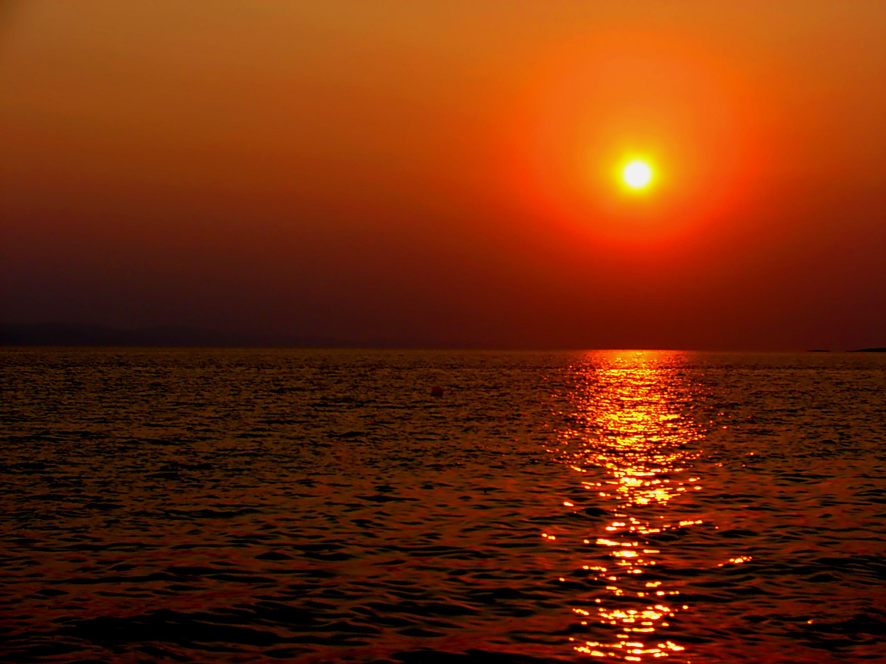 the most amazing sunset in toroni halkidiki